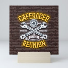 Caferacer Reunion, Motorcycle club Mini Art Print