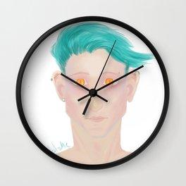 Demon eyes Wall Clock