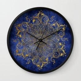 Mandala - Dark ocean Wall Clock