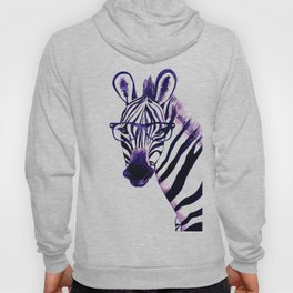 Zebra with glasses, purple Hoody