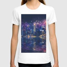 Singapore Night Skyline T-shirt