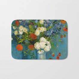 Vincent Van Gogh Vase With Cornflowers And Poppies Bath Mat