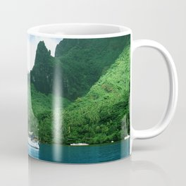 Sailboat in Cook's Bay: Moorea, South Pacific Coffee Mug