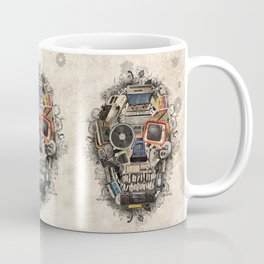 retro tech skull 2 Coffee Mug