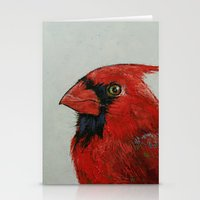 cardinal Stationery Cards featuring Cardinal by Michael Creese
