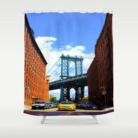 bridge Shower Curtains featuring Bridge by Brown Eyed Lady