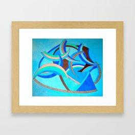 The blue star Framed Art Print