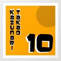 kuroko Art Prints featuring kazunari Takao by Selis Starlight
