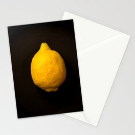 Yellow Lemon On A Black Background #decor #society6 Stationery Cards