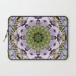 Lacy Lavender Wild Bergamot Kaleidoscope Laptop Sleeve