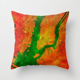 New York Eagle Nebula Throw Pillow