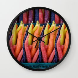 Colourful Carrots2 Wall Clock