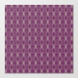 Hopscotch hex-Plum Canvas Print