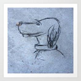 annie sketch Art Print