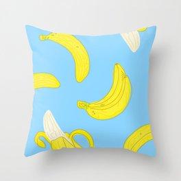 Banana Party Throw Pillow