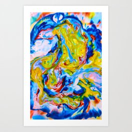 Milkblot No. 6 Art Print