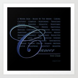 Sign Language for Cancer Art Print