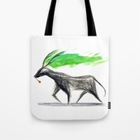 hannibal Tote Bags featuring Hannibal  by gunberk