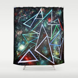 My Father's Star Charts Shower Curtain