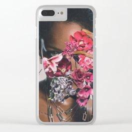Rihanna Floral Clear iPhone Case