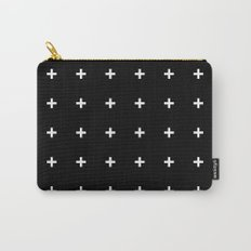 White Plus on Black /// www.pencilmeinstationery.com Carry-All Pouch