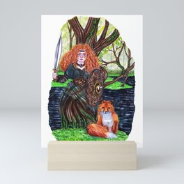 The alder tree sign Mini Art Print