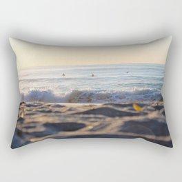 Surfers in the Morning Light Rectangular Pillow