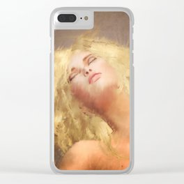 Moments Alone Clear iPhone Case