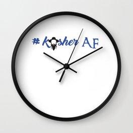 Kosher AF Wall Clock