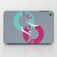 karma iPad Cases featuring karma  by Daniac Design