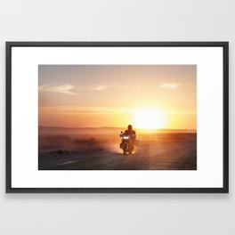 Motor at sunset Framed Art Print
