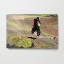 Motocross Moguls Metal Print