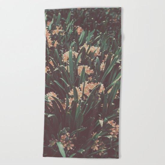 Jungle Blooms Beach Towel