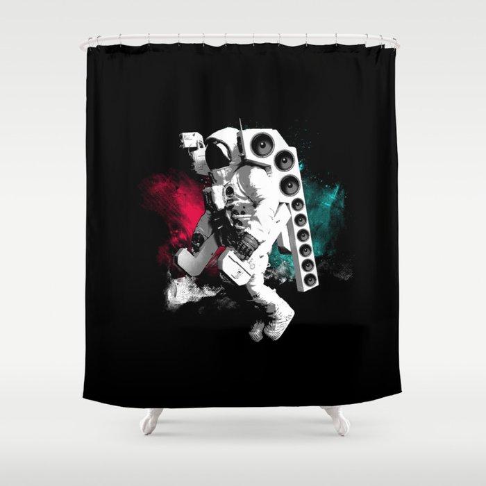 Basstronaut Shower Curtain