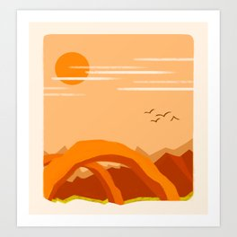 Minimalist Arches Art Print