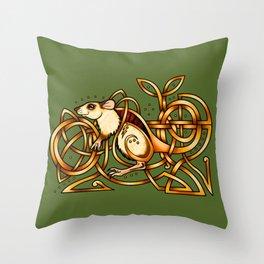 Celtic Rat Throw Pillow