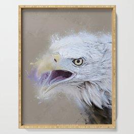 Bald Eagle Screeching Serving Tray
