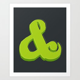 Green Ampersand Art Print