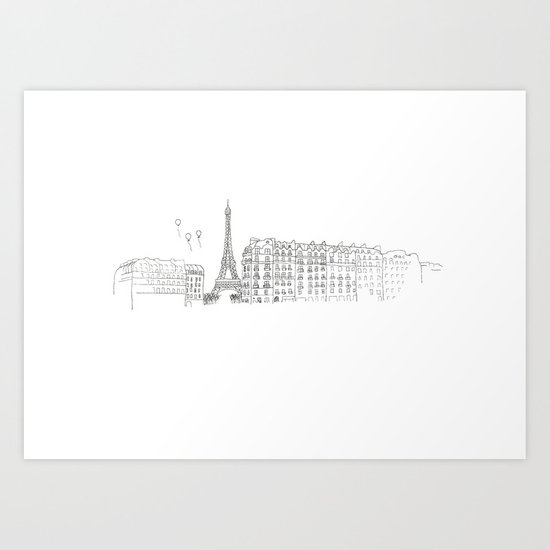 Paris Impression Art Print
