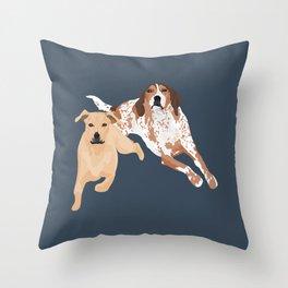 Clovis and Rubee Throw Pillow