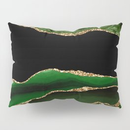 Emerald Marble Glamour Landscapes Pillow Sham