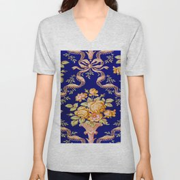 Zuber and Cie Floral Brocade Unisex V-Neck