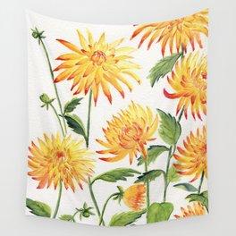 Dahlia Flowers 1 Wall Tapestry