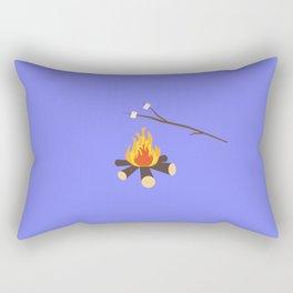 Campfire with marshmallows Rectangular Pillow