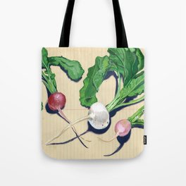 Easter Egg Radishes in Gouache Tote Bag