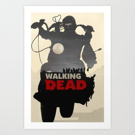 Daryl Dixon - Black and White Art Print