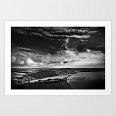 view over Exmoor Art Print