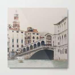The Rialto Bridge in Venice, Italy Metal Print