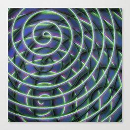 Painted Spirals 4 Canvas Print