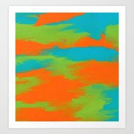 Colorful intense mixed Art Print